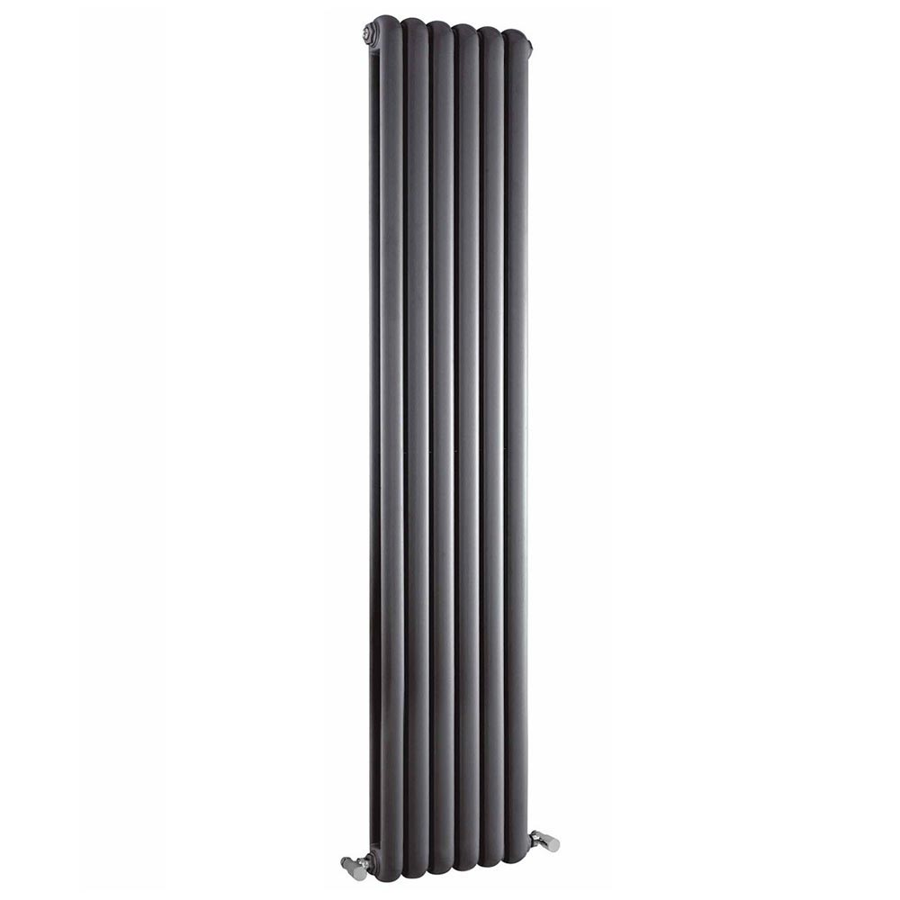 Rico Double Panel Anthracite Radiator 1800 x 377 profile large image view 1