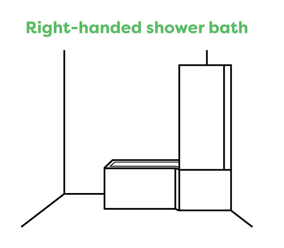 A Right Handed Shower Bath