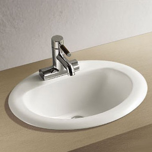 Rio Oval Inset Basin 1TH - 520 x 455mm Large Image