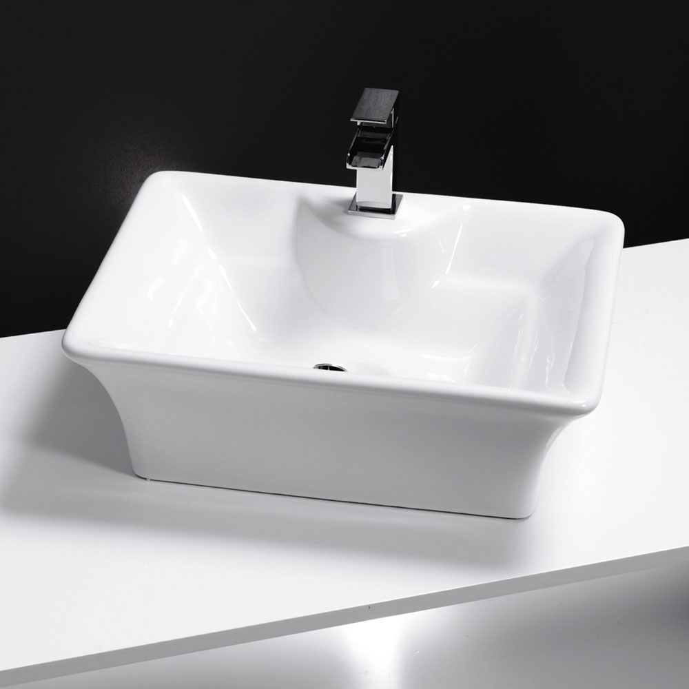 Riviera Counter Top Basin 1TH - 490 x 385mm Large Image