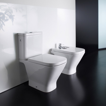 Roca - The Gap Close Coupled Toilet with Soft-Close Seat profile large image view 3