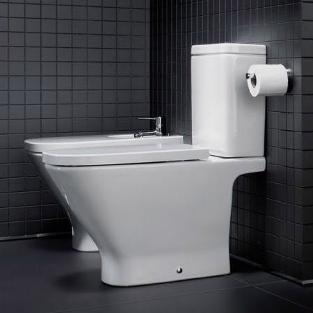 Roca - The Gap Close Coupled Toilet with Soft-Close Seat profile large image view 4