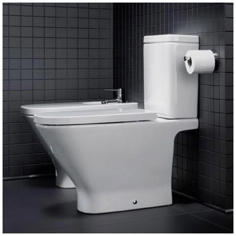 Roca the gap close coupled toilet with soft close seat for Inodoro gap medidas