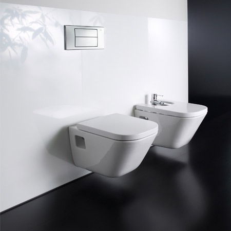 Roca - The Gap Wall hung WC pan with soft-close seat profile large image view 3