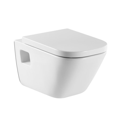 Roca - The Gap Wall hung WC pan with soft-close seat Large Image