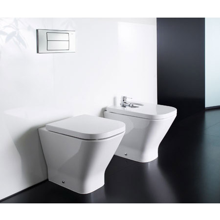 Roca - The Gap Back to wall WC pan with soft-close seat profile large image view 3