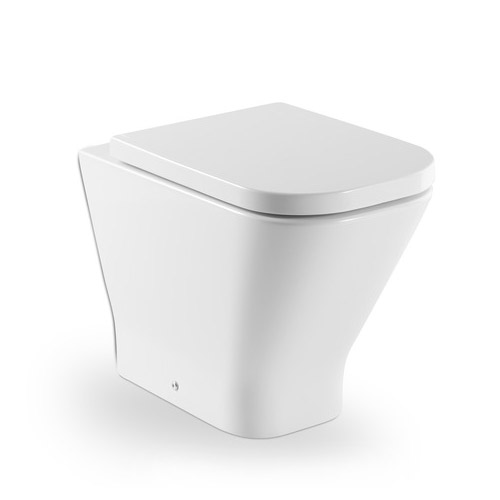 Roca - The Gap Back to wall WC pan with soft-close seat Large Image