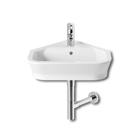 Roca - The Gap 480mm wall mounted corner basin - 1 tap hole - 32747R000 Large Image