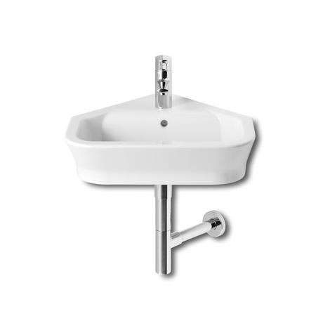 Roca - The Gap 480mm wall mounted corner basin - 1 tap hole - 32747R000