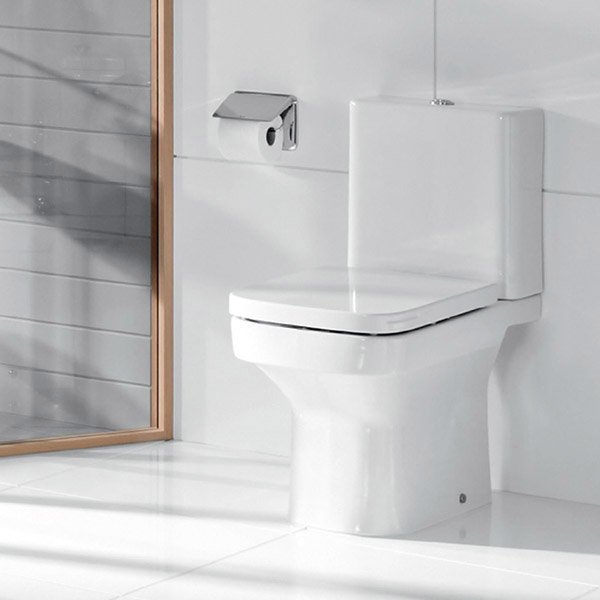 Roca Dama-N Close Coupled Toilet with Soft-Close Seat profile large image view 4