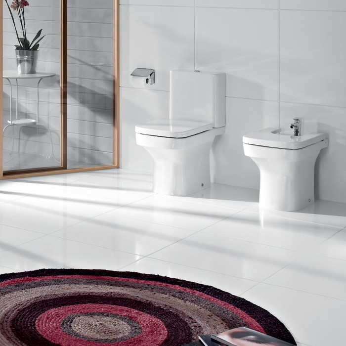 Roca Dama-N Floor-Standing Bidet with Soft-Close Cover Feature Large Image