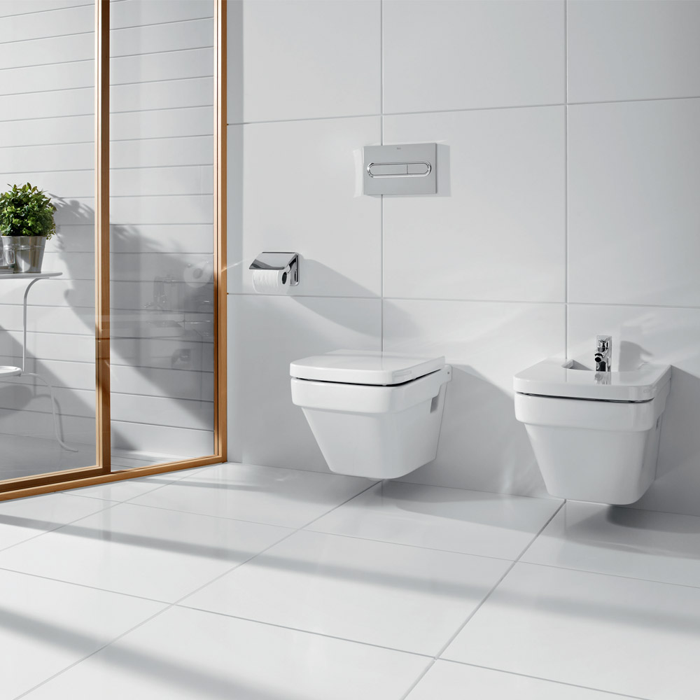Roca Dama-N Wall Hung Bidet with Soft-Close Cover profile large image view 3