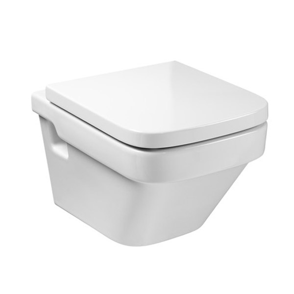 Roca Dama-N Wall Hung Pan with Soft-Close Seat profile large image view 1