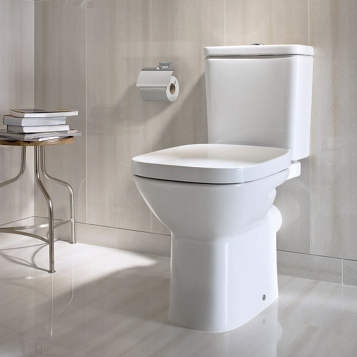 Roca Debba Close Coupled Toilet with Soft-Close Seat Feature Large Image