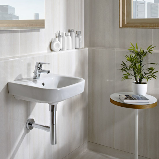 Roca Debba Wall-Hung 1TH Basin - Various Sizes Profile Large Image