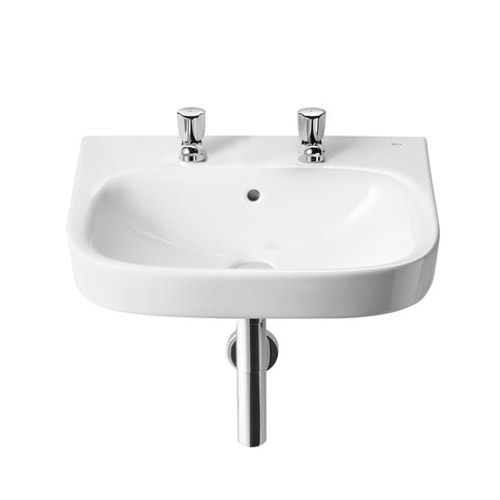Roca Debba Wall-Hung 2TH Basin - Various Sizes profile large image view 1