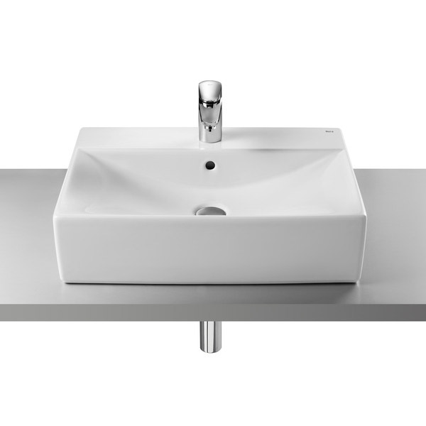Roca Diverta 600 x 440mm Over countertop 1TH Basin - 32711G000 profile large image view 1
