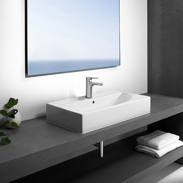 Roca Diverta Wall-hung or Countertop 1TH Basin profile large image view 3