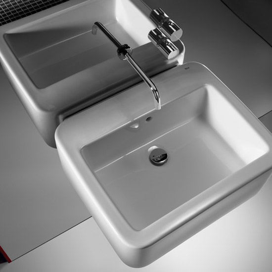 Roca Element Built-in wall mounted basin dual control mixer - 5A3562C00 Profile Large Image