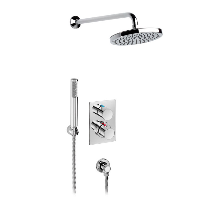 Roca Element Chrome Wall Mounted Bath Shower, Kit & Rose - 5A2962C00 Large Image