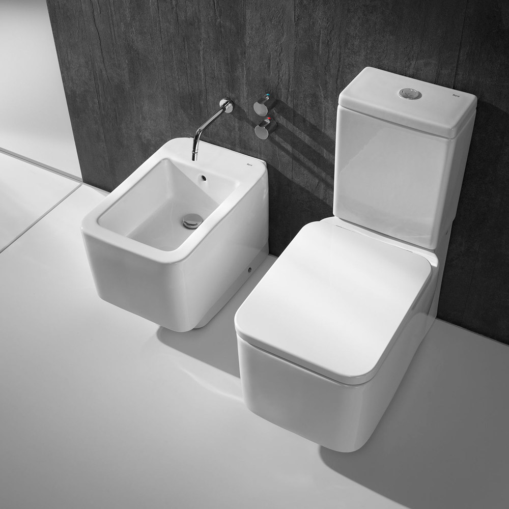 Roca - Element Close Coupled BTW Toilet with Soft Close Seat profile large image view 2