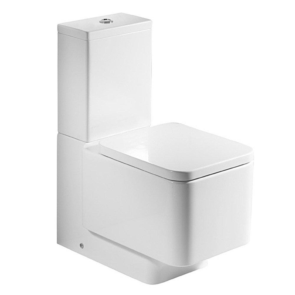 Roca element close coupled btw toilet with soft close for Inodoro cuadrado