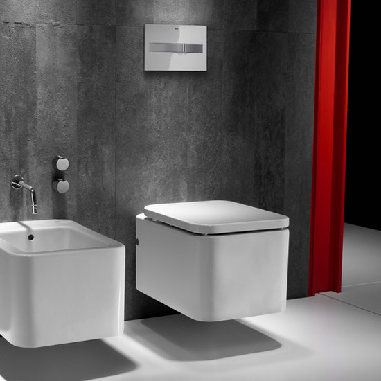 Roca - Element Wall Hung WC Pan with Soft Close Seat - ROC-ELE-WALL Profile Large Image