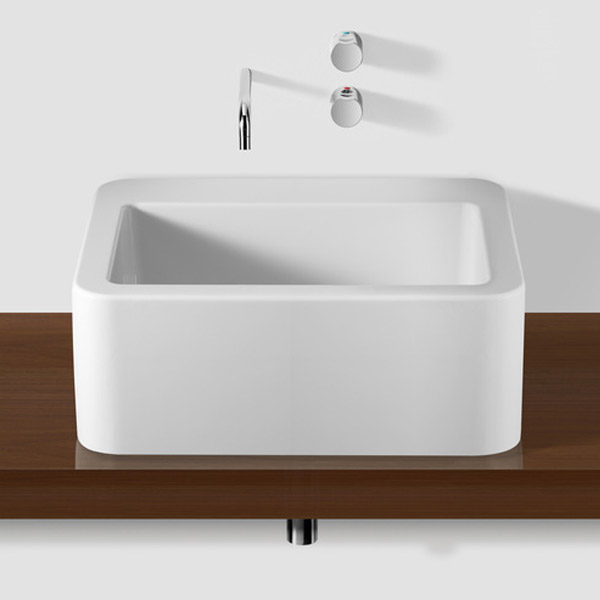 Roca - Element Wall Mounted Basin - 600mm - 2 x Tap Hole Options profile large image view 5