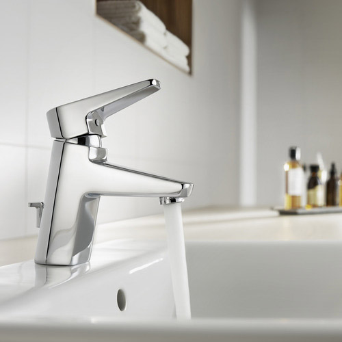 Roca Esmai Chrome Basin Mixer Tap excluding Waste - 5A3131C00 profile large image view 2