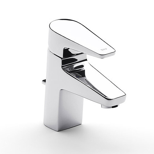 Roca Esmai Chrome Basin Mixer Tap with pop-up waste - 5A3031C00 Large Image