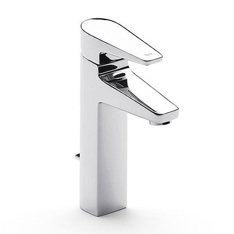 Roca Esmai Chrome Extended basin mixer with pop-up waste - 5A3431C00