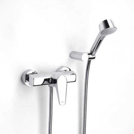 Roca Esmai Chrome Wall Mounted Shower Mixer & Handset - 5A2031C00