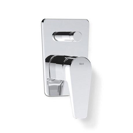 "Roca Esmai Chrome 1/2"" built-in bath-shower mixer with automatic diverter - 5A0631C00"