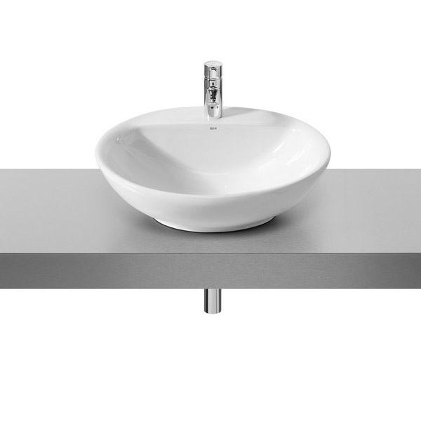 Roca Fontana 600 x 480mm Wall-hung or over countertop 1TH Basin - 327877000 profile large image view 1