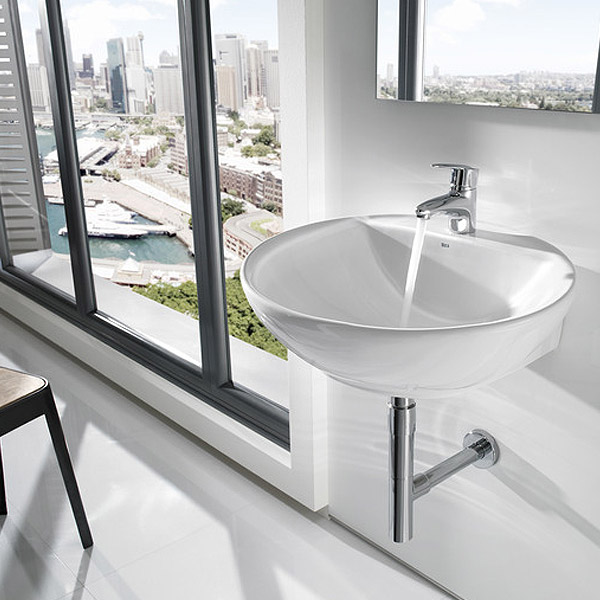 Roca Fontana 600 x 480mm Wall-hung or over countertop 1TH Basin - 327877000 profile large image view 2