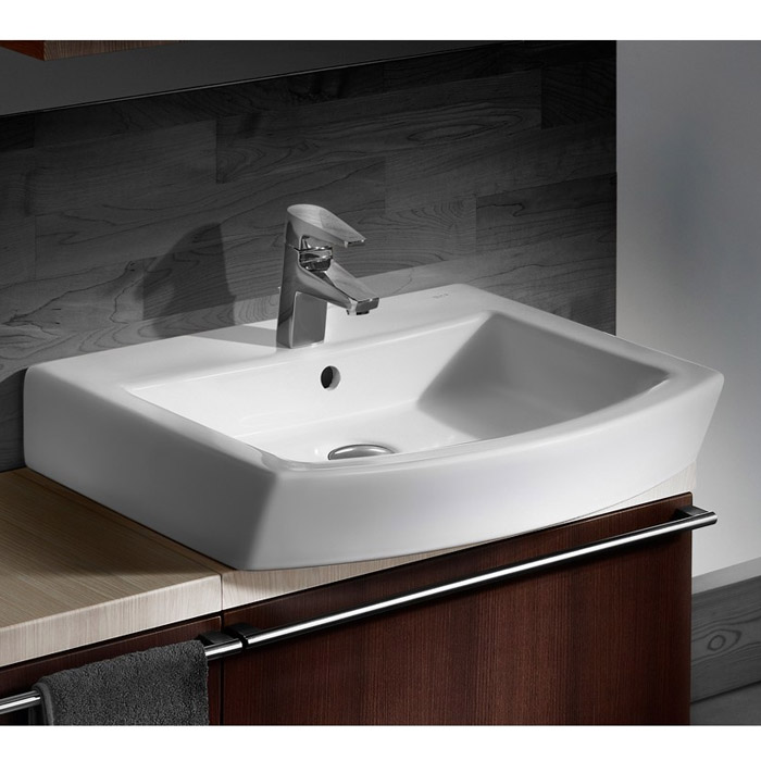 Roca Hall 520 x 440mm Over Countertop Basin profile large image view 2