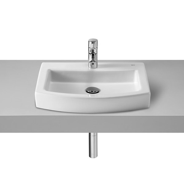 Roca Hall 520 x 440mm Over Countertop Basin profile large image view 1