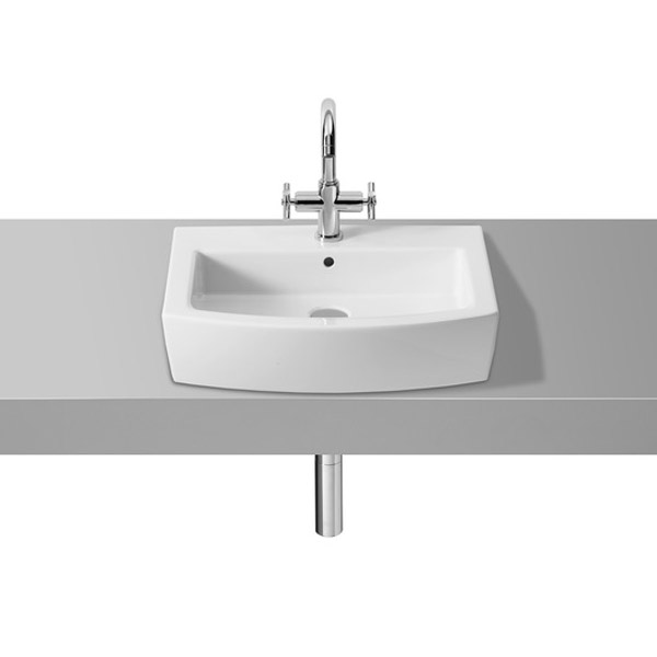 Roca Hall 550 x 485mm 1TH Basin - 327881000 profile large image view 2