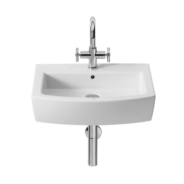 Roca Hall 550 x 485mm 1TH Basin - 327881000 profile large image view 1