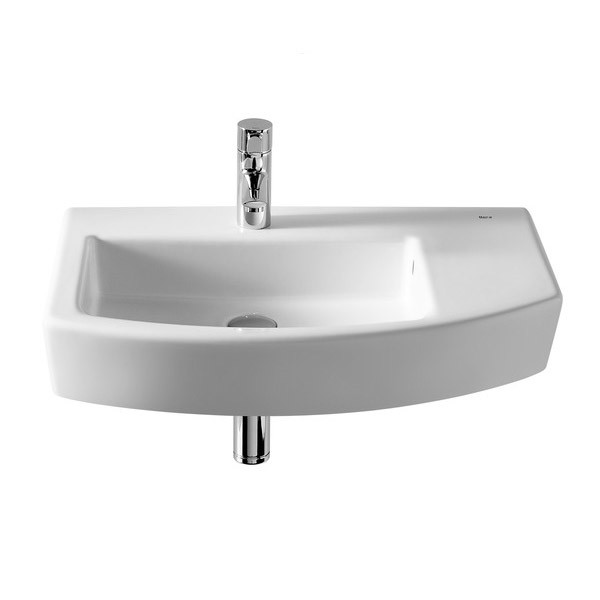Roca Hall 650 x 420mm Offset 1TH Basin - 327620000 Large Image