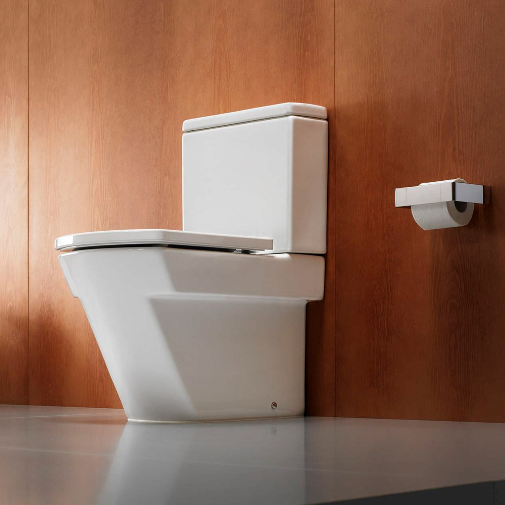 Roca Hall BTW Close Coupled Toilet with Soft-Close Seat profile large image view 3