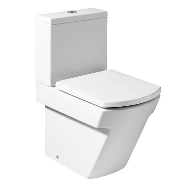 Roca Hall BTW Close Coupled Toilet with Soft-Close Seat profile large image view 1