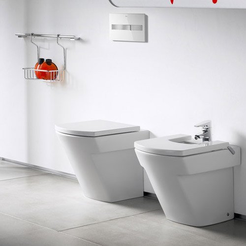 Roca Hall Back To Wall Pan with Soft-Close Seat profile large image view 3