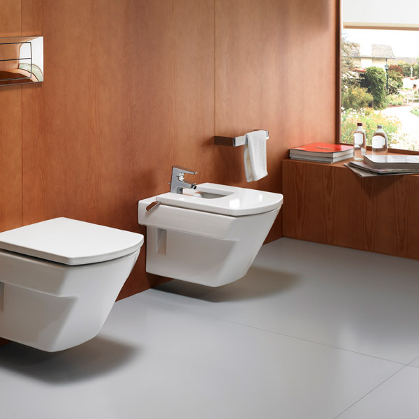 Roca Hall Wall-hung Bidet with Cover profile large image view 3
