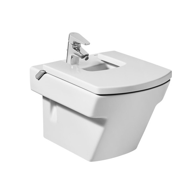 Roca Hall Wall-hung Bidet with Cover profile large image view 1