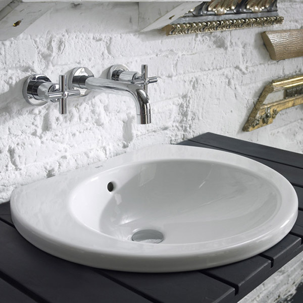 Roca Happening 520 x 445mm In countertop Basin - 327565000 profile large image view 4