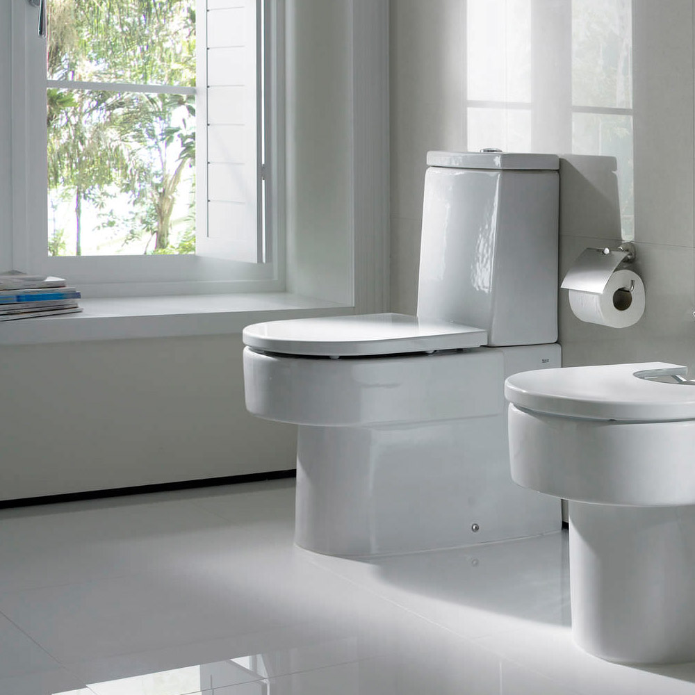 Roca Happening BTW Close Coupled Toilet with Soft-Close Seat Profile Large Image