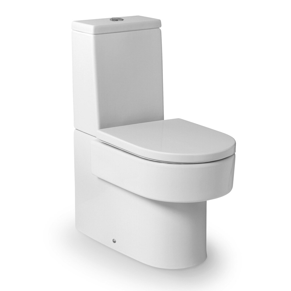 Roca Happening BTW Close Coupled Toilet with Soft-Close Seat Large Image
