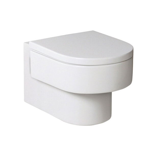 Roca Happening Wall-hung Pan with Soft-Close Seat profile large image view 1