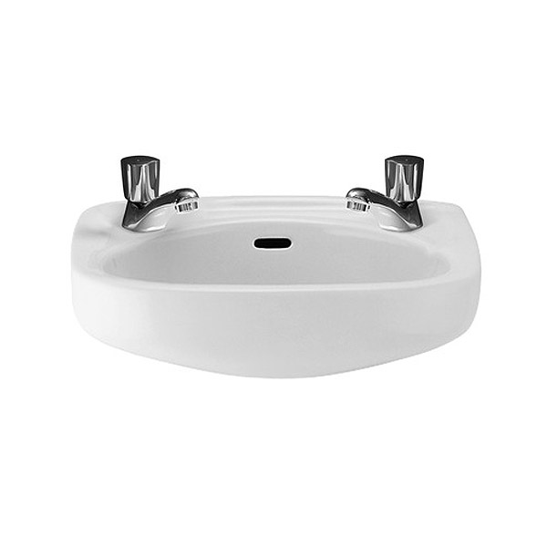 Roca Ibis Compact 440 x 310mm Wall-hung Basin profile large image view 1